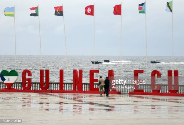 Parade held for the 50th anniversary of Equatorial Guinea independence day in Malabo Equatorial Guinea on October 14 2018