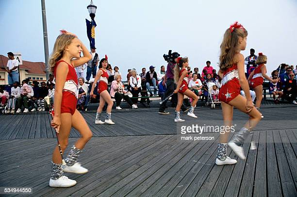 Parade held on the Atlantic City Boardwalk the night before the Miss American Pageant