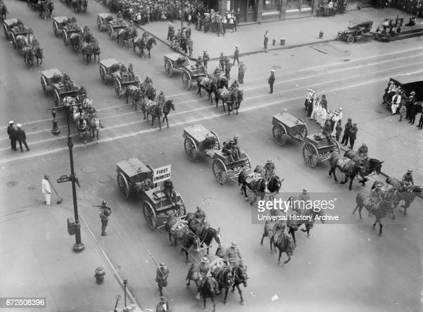 Parade Honoring World War I Veterans New York City New York USA Bain News Service September 10 1919
