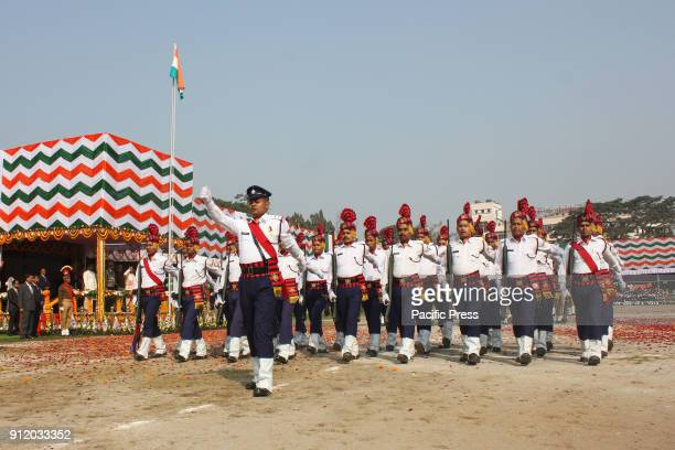 Parade in the 69th Republic Day of India in front of Assam Governor Jagdish Mukhi and Assam Chief Minister Sarbananda Soniwal