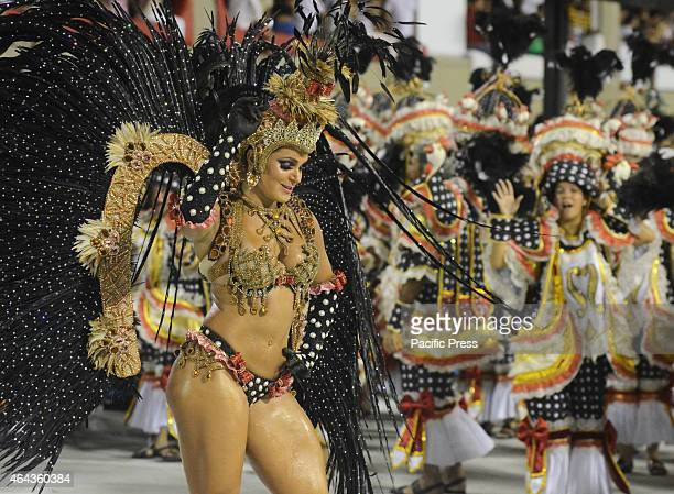 Parade of Champions Schools Samba in Rio de Janeiro participated by Samba School Salgueiro with the plot against racism and speaks of defila State of...