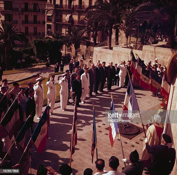 Parade Of July 14Th 1956 In Algiers En Algérie à Alger le 14 juillet 1956 lors du défilé de la fête nationale Robert LACOSTE ministre de l'Algérie...