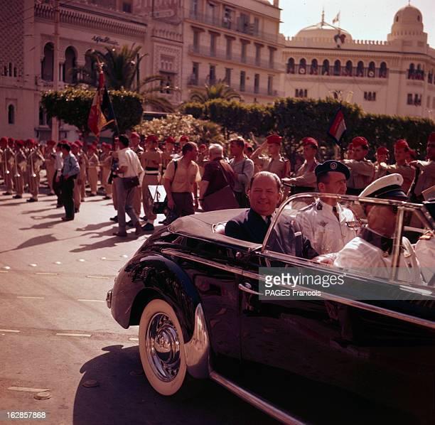 Parade Of July 14Th 1956 In Algiers En Algérie à Alger le 14 juillet 1956 lors du défilé de la fête nationale Robert LACOSTE ministre de l'Algérie et...