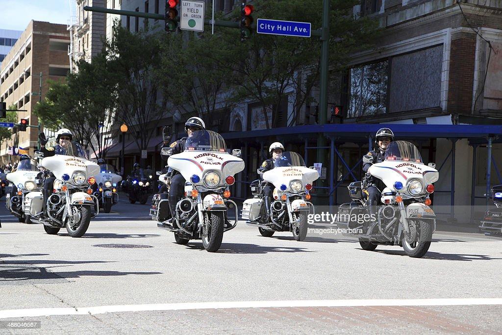 パレードの警察 : ストックフォト