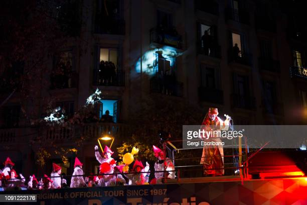 Parade of the 3 Kings of the Orient in Barcelona