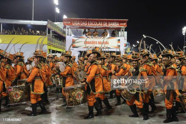 Parade of the Dragões da Real during the second day of the parades of the samba schools of the special Carnival Group of Sao Paulo 2019 in the...