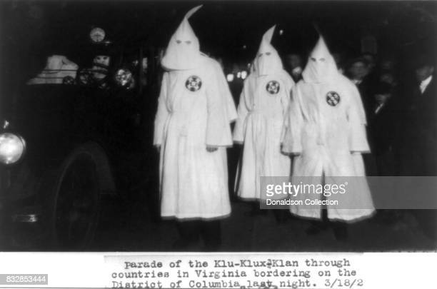 Parade of the Ku Klux Klan through counties in Virginia bordering on the District of Columbia on March 18 1922