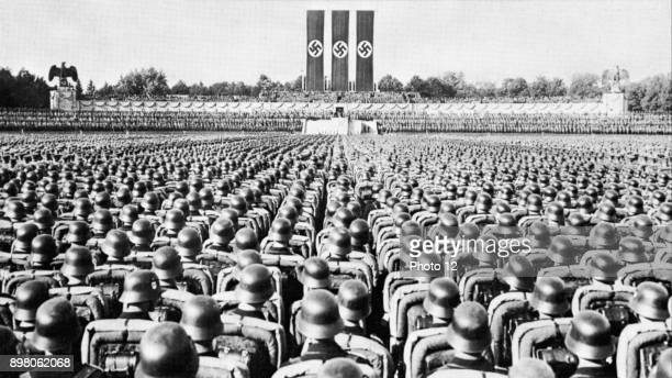 Parade of the SS Guard the Nazi elite at a Party rally in Nurmberg in the late 1930s
