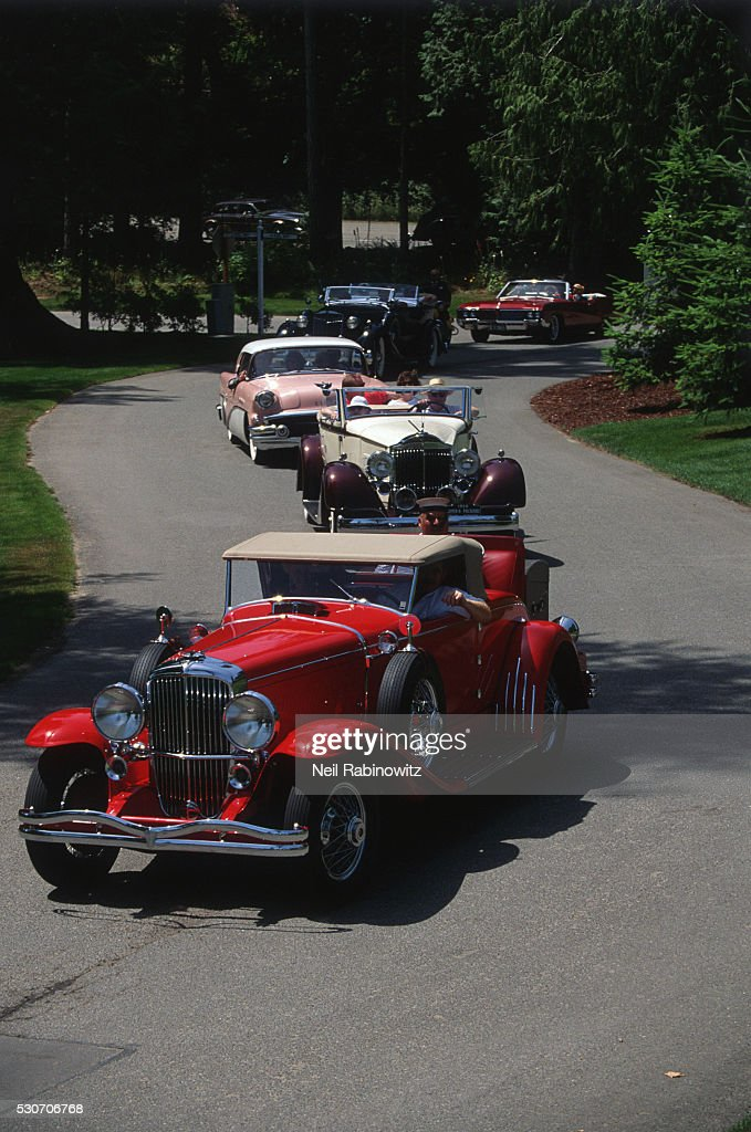 Parade Of Vintage Autos Stock Photo | Getty Images