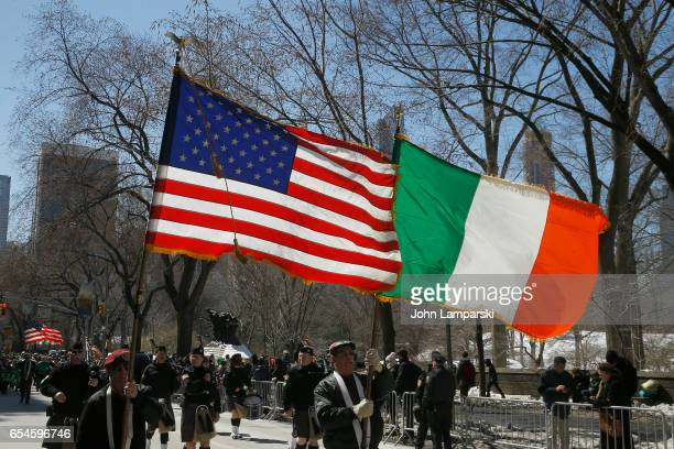 Parade partecipants are seen at the 256th annual St Patrick's Day Parade on March 17 2017 in New York City