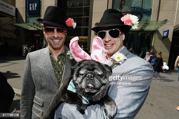 Parade partecipants display costumes during the 2016 New York City Easter Parade on March 27 2016 in New York City