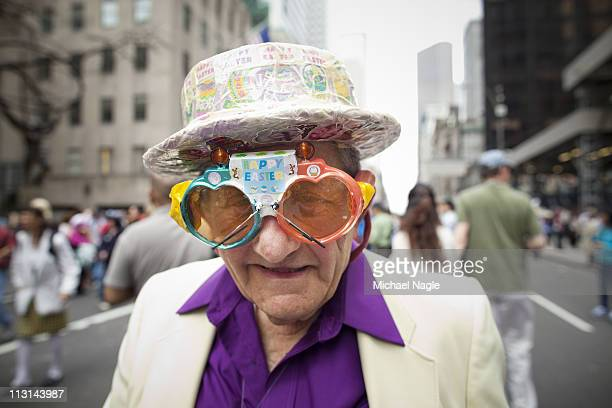 Parade participant takes part in the 2011 Easter Parade and Easter Bonnet Festival on April 24, 2011 in New York City. The parade is a New York...