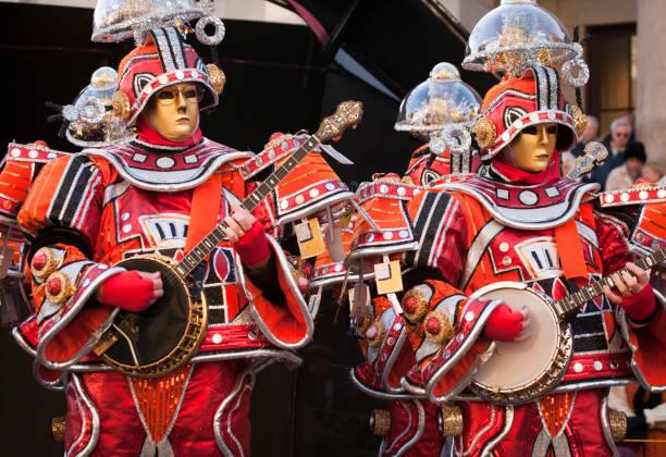 Parade participants dressed as martians