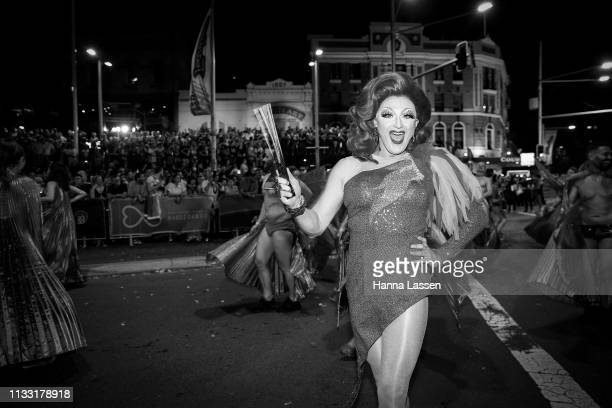 Parade participants during the 2019 Sydney Gay Lesbian Mardi Gras Parade on March 02 2019 in Sydney Australia The Sydney Mardi Gras parade began in...