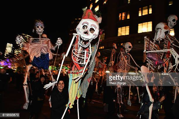 Parade participants during the 43rd Annual Village Halloween Parade on October 31 2016 in New York City