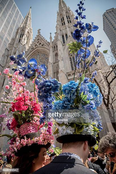 Parade participants during the annual New York City Easter Parade on April 5 2015 in New York City