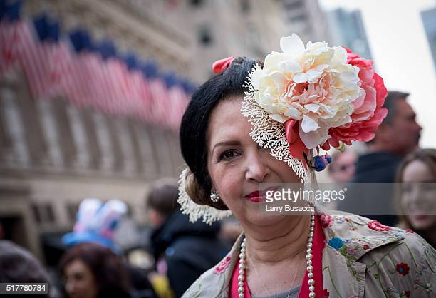 Parade participants during the annual New York City Easter Parade on March 27 2016 in New York City