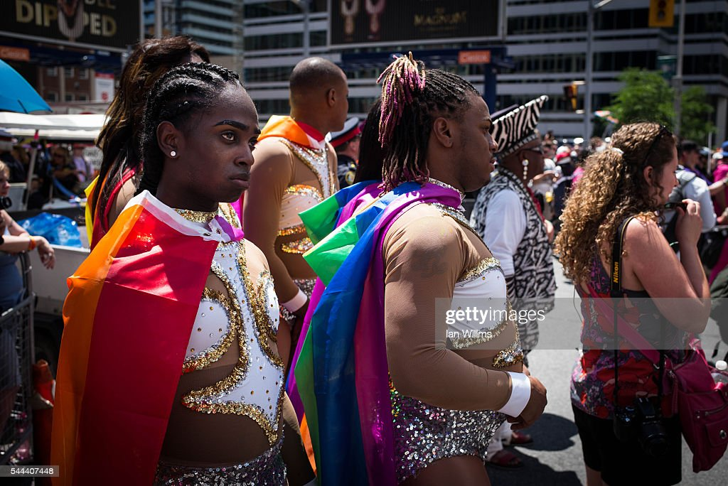 Parade participants gather on Bloor Street, at the annual Pride Festival parade, July 3, 2016 in Toronto, Ontario, Canada. Prime Minister Justin Trudeau will make history as the first Canadian PM to march in the parade.