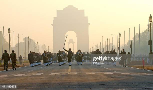 Parade practice, New Delhi, India
