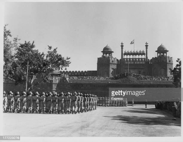 A parade to celebrate Republic Day New Delhi India 1957