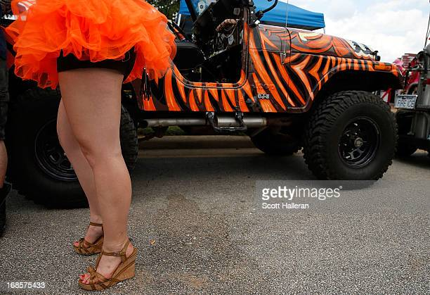 A paradegoer is seen on Allen Parkway during the 26th Annual Houston Art Car Parade on May 11 2013 in Houston Texas