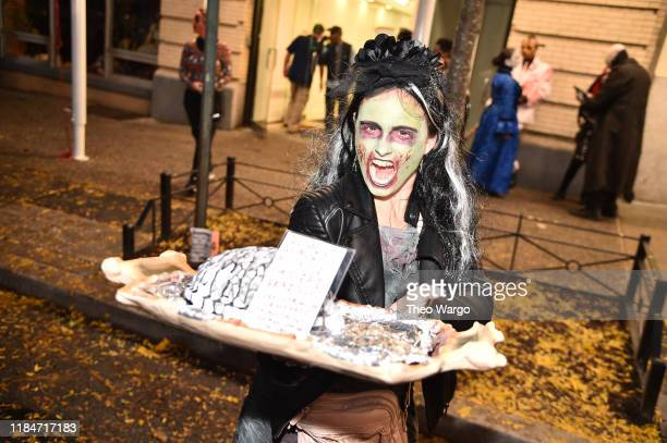 A paradegoer takes part in the 46th Annual Village Halloween Parade on October 31 2019 in New York City