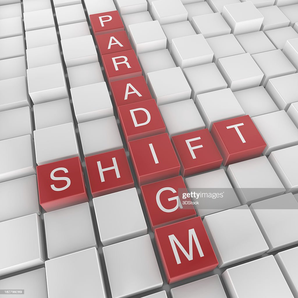 Paradigm shift crossword : Stock Photo