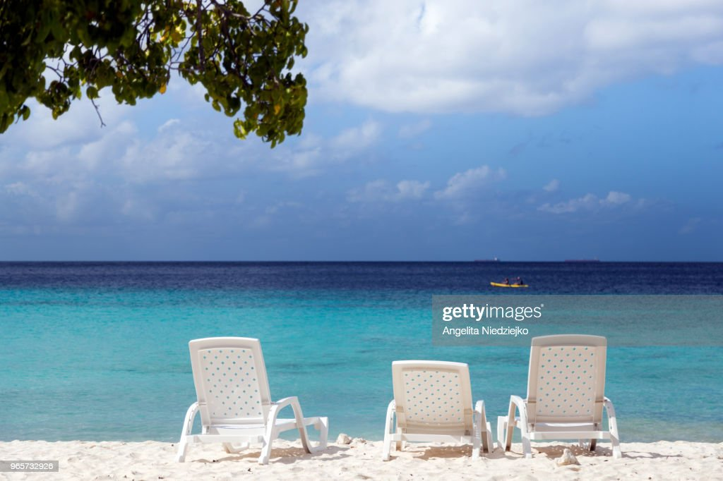 Paradise beach, Cas Abao beach, Curaçao : Stock Photo