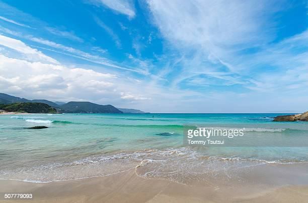 paradise beach in early summer - shizuoka stock photos and pictures