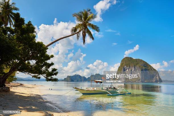 paradise beach in palawan, phillippines - philippines stock pictures, royalty-free photos & images
