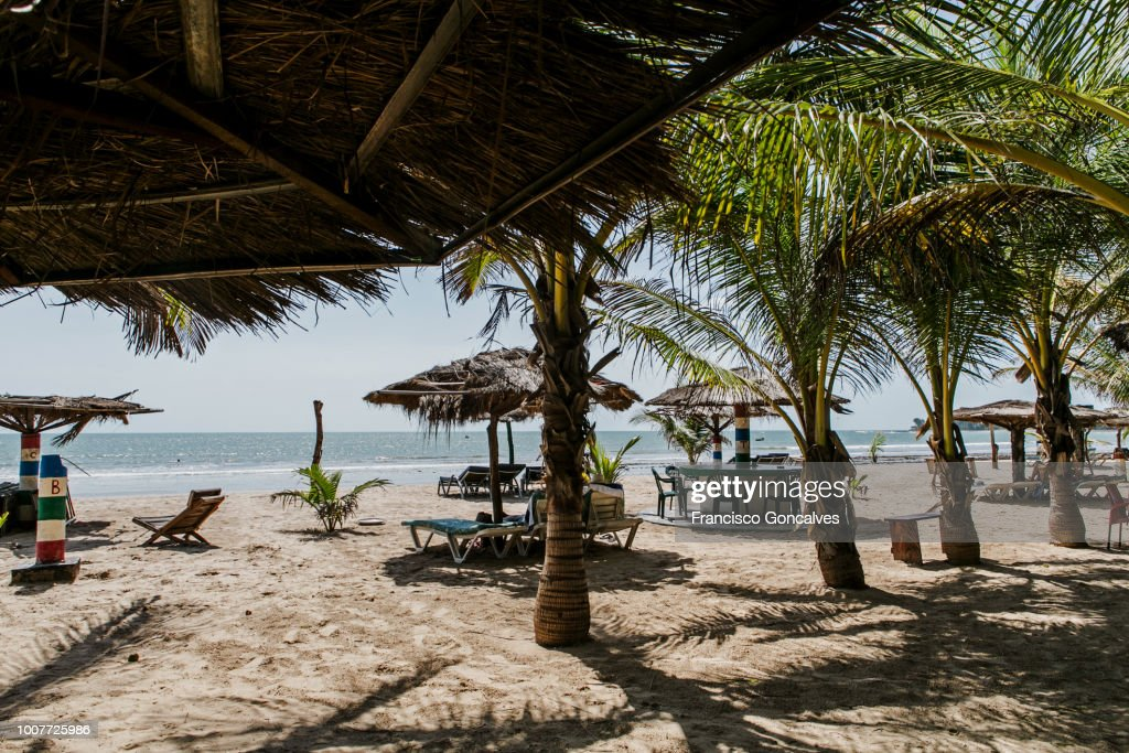 Paradise Beach in Sanyang, Gambia : Stock Photo