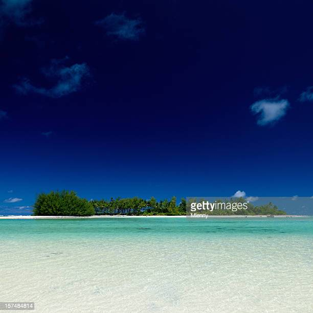 paradise island muri beach rarotonga isole cook - rarotonga foto e immagini stock