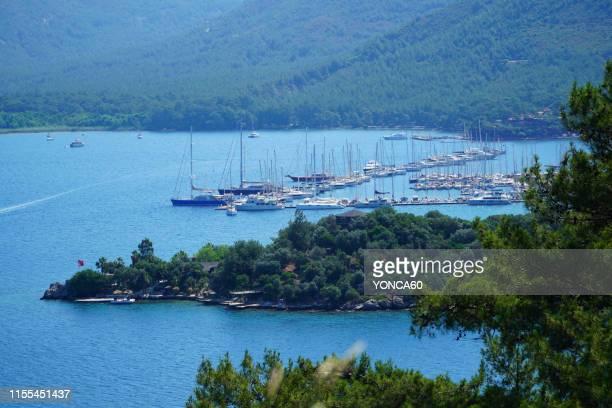 paradise island of marmaris - mugla province stock pictures, royalty-free photos & images