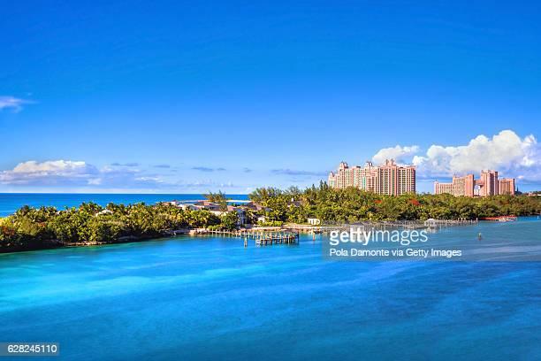 Paradise island with the Atlantis Resort at the background, Nassau, Bahamas