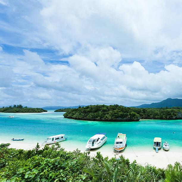 Paradise lagoon of tropical island