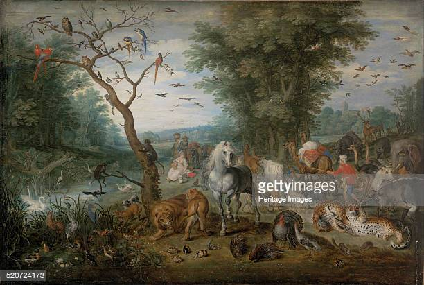 Paradise Landscape with Animals Found in the collection of Szepmuveszeti Muzeum Budapest