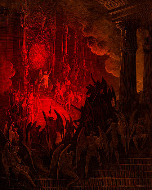 Paradise Lost: Satan In Council, Engraving By Gustave Doré