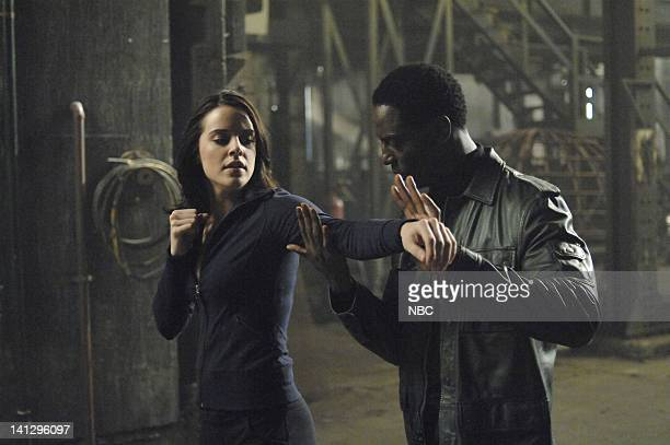 WOMAN 'Paradise Lost' Episode 102 Pictured Michelle Ryan as Jaime Sommers Isaiah Washington as Antonio Pope Photo by Alan Zenuk/NBC/NBCU Photo Bank