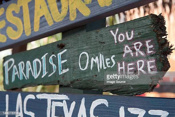 Paradise sign, Grand Cayman, Cayman Islands