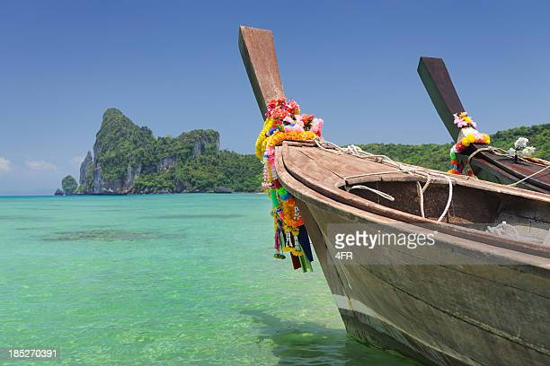 Paradise Tropical Beach with Longtail Boats - PhiPhi Islands (XXXL)