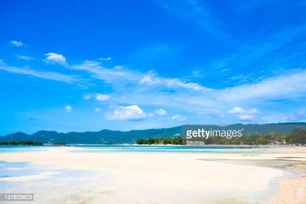 Paradise tropischen Insel, Chaweng beach auf Koh Samui, Thailand