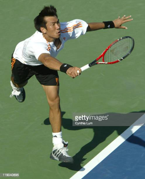 Paradorn Srichaphan defeats Mario Ancic 76 67 62 in his first round match at the MercedesBenz Cup at Westwood CA on July 26 2005