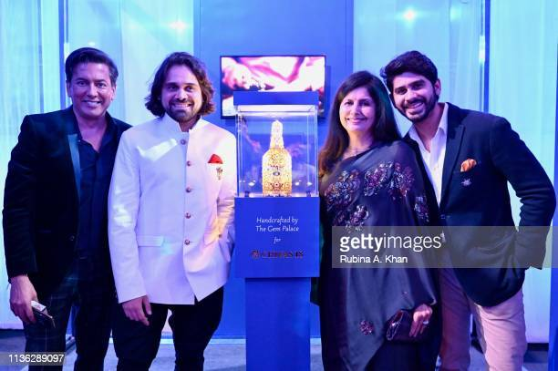 Parag Gupta with jewelry designer Siddharth Kasliwal and his mother Kalpana Kasliwal and brother Samarth Kasliwal attend the third edition of Chivas...