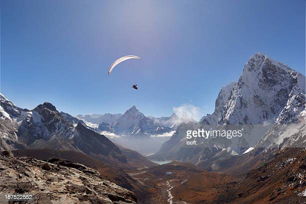 Paraglaider. Everest Circuit. Nepal Motive.