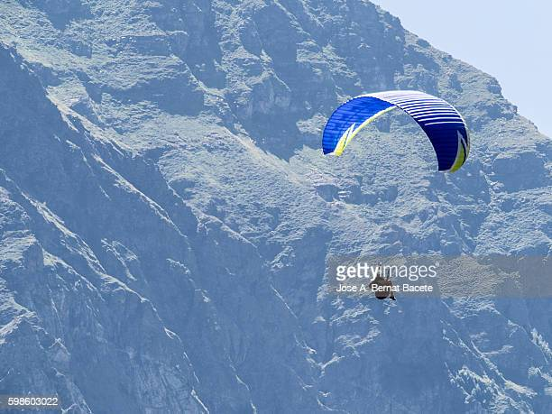 Paraglider above  Midi-Pyrenees ; France
