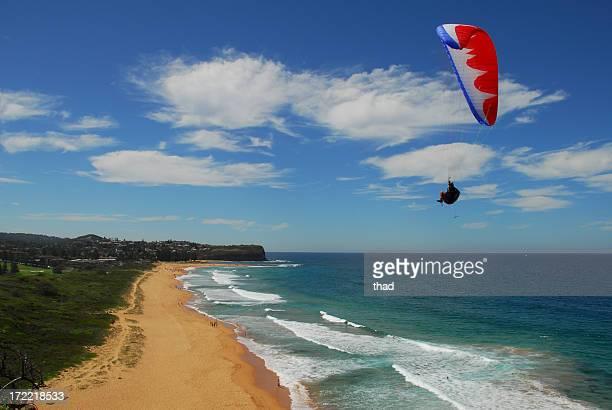 Paraglider over Beach
