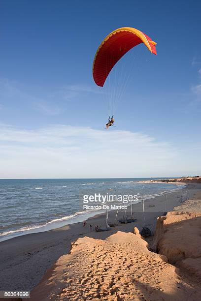 Paraglider Over Brazilian Beach