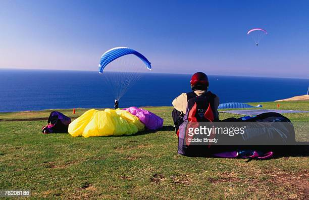 Paragliding from Torrey Pines Gliderport, La Jolla, San Diego, California, United States of America, North America