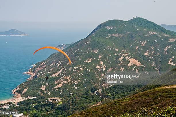 Paragliding in Shek O, Hong Kong