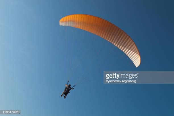 paragliding in the sky, goa - argenberg stock-fotos und bilder